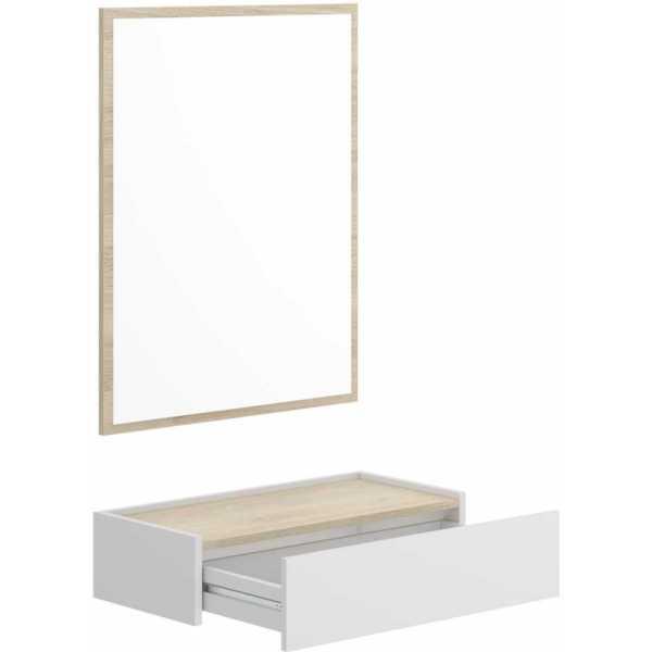 recibidor con cajon y espejo 3