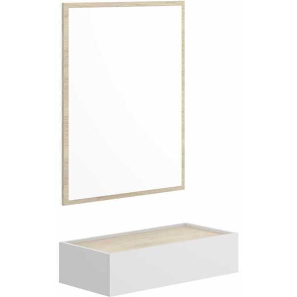 recibidor con cajon y espejo 4