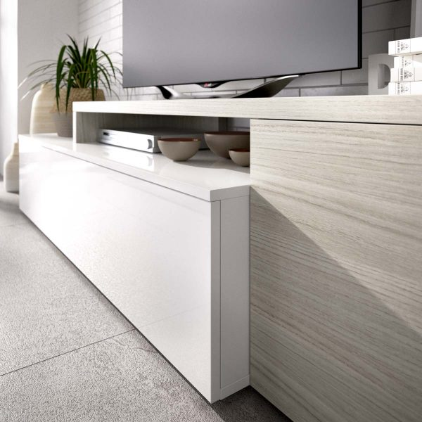 salon tv compacto blanco brillo 1