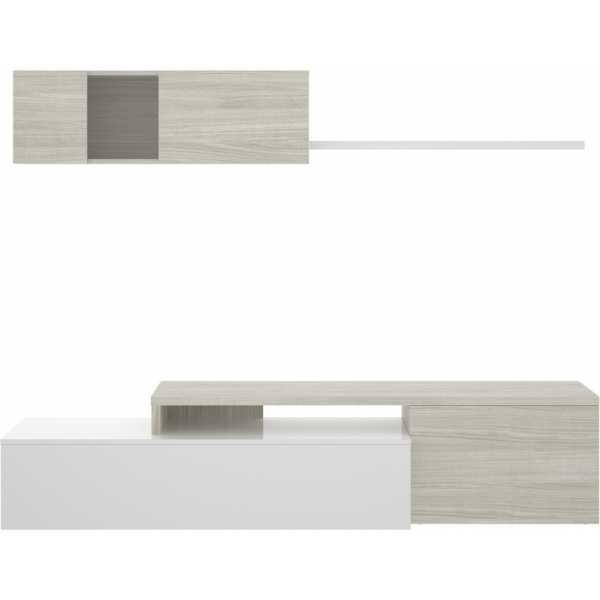 salon tv compacto blanco brillo 10