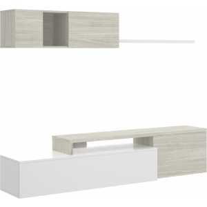 salon tv compacto blanco brillo 9