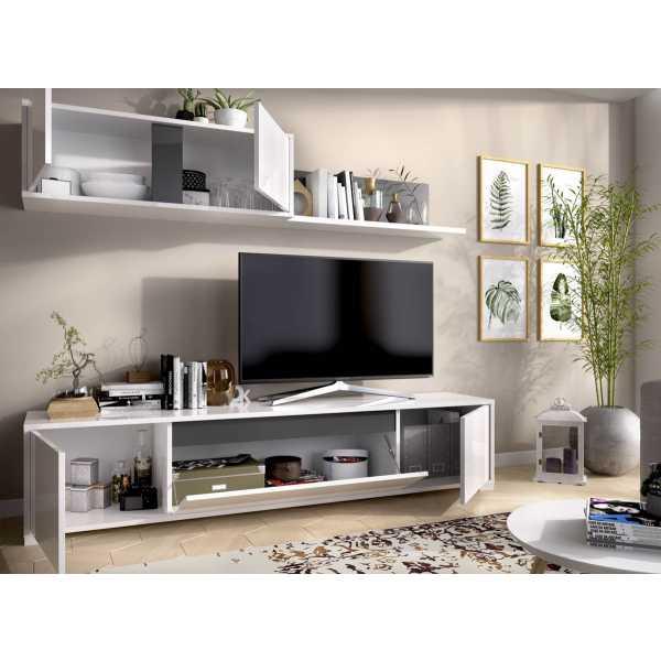 salon tv con puertas y estante a pared 5