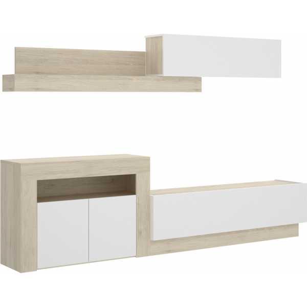 salon tv con puertas y modulos horizontales 1