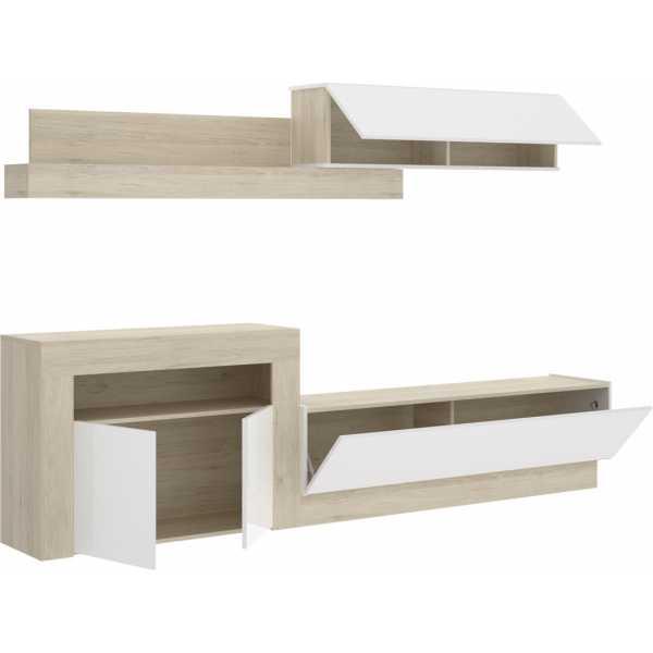 salon tv con puertas y modulos horizontales 2