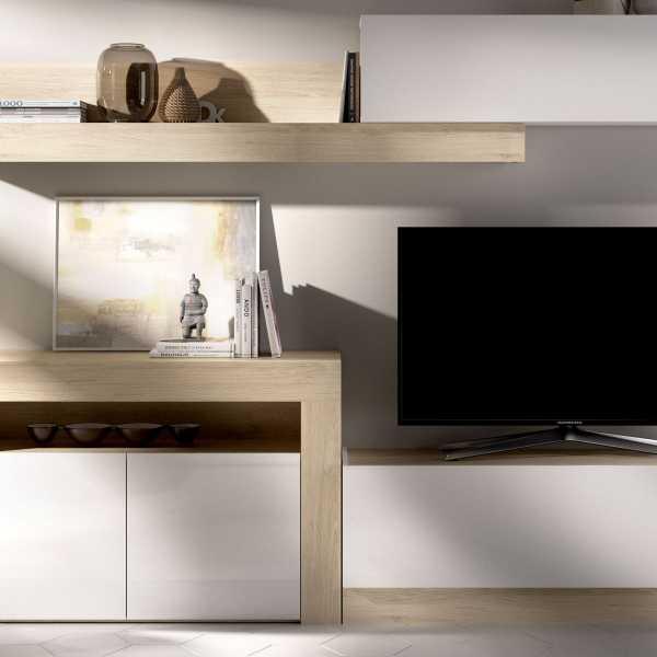 salon tv con puertas y modulos horizontales 5