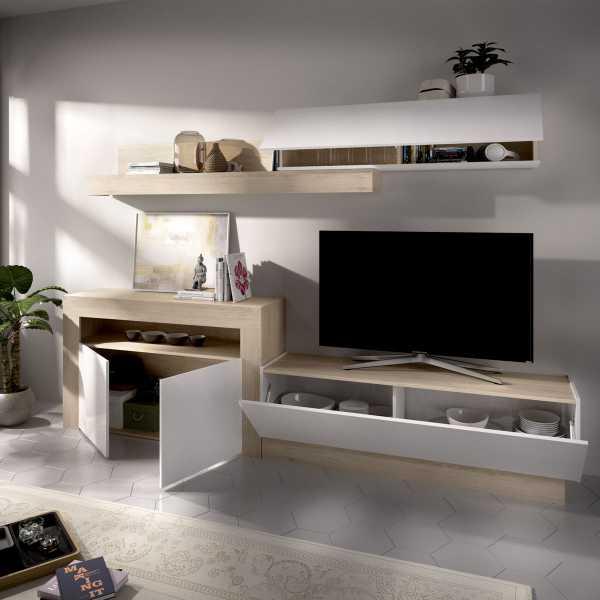 salon tv con puertas y modulos horizontales 6