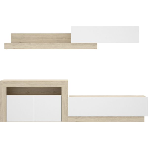 salon tv con puertas y modulos horizontales