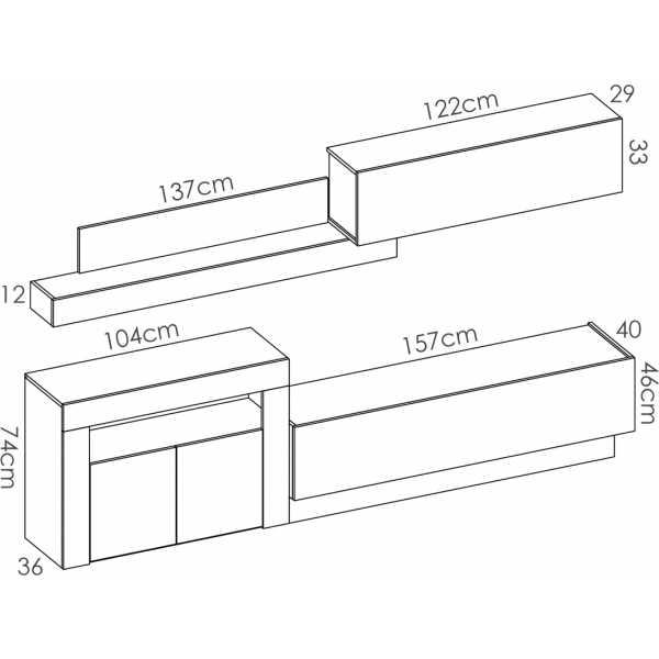 salon tv con puertas y modulos horizontales 7