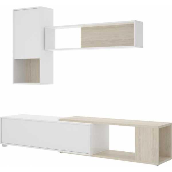 salon tv flexible blanco brillo 11