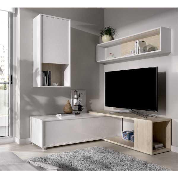 salon tv flexible blanco brillo 2