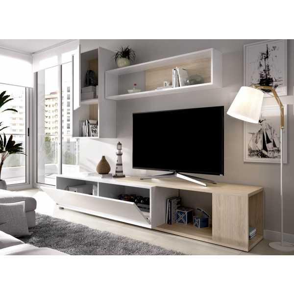 salon tv flexible blanco brillo 4