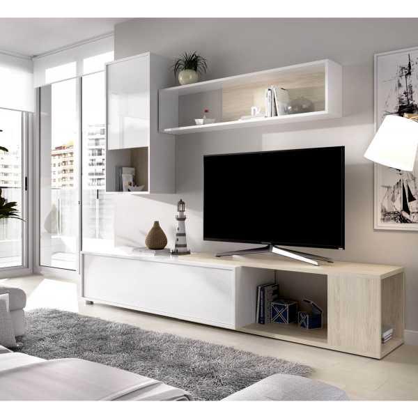 salon tv flexible blanco brillo 5