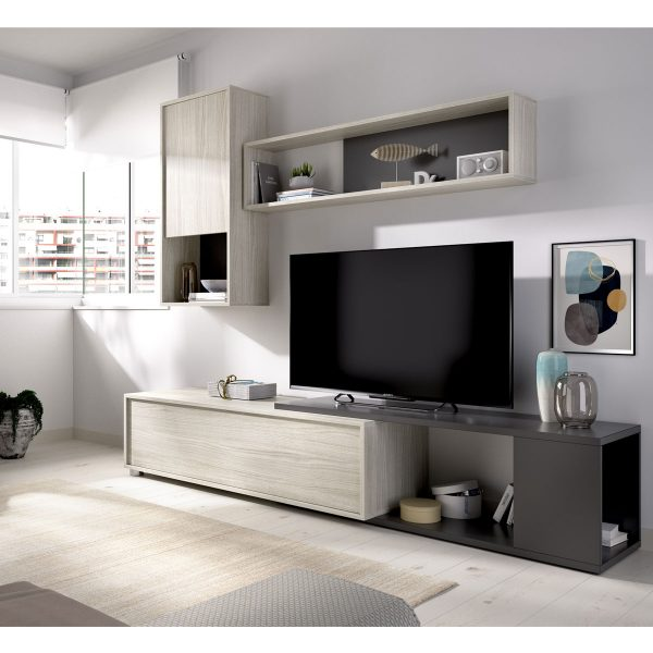 salon tv flexible grafito 10