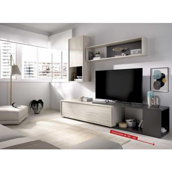 salon tv flexible grafito 3