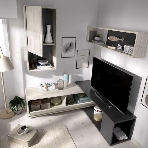 salon tv flexible grafito 5