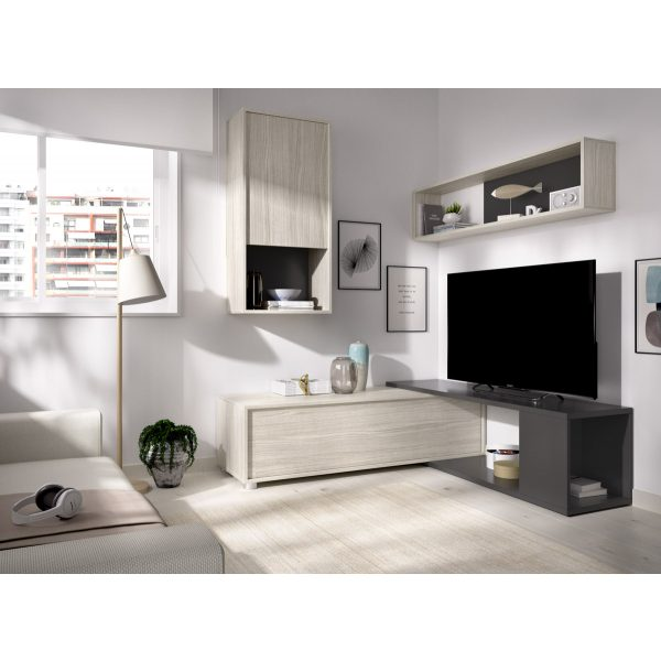 salon tv flexible grafito 6