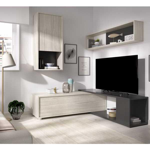 salon tv flexible grafito 7