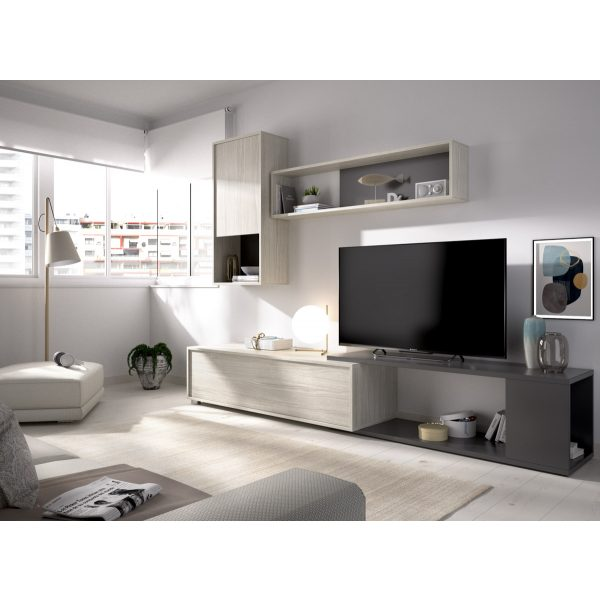 salon tv flexible grafito 8
