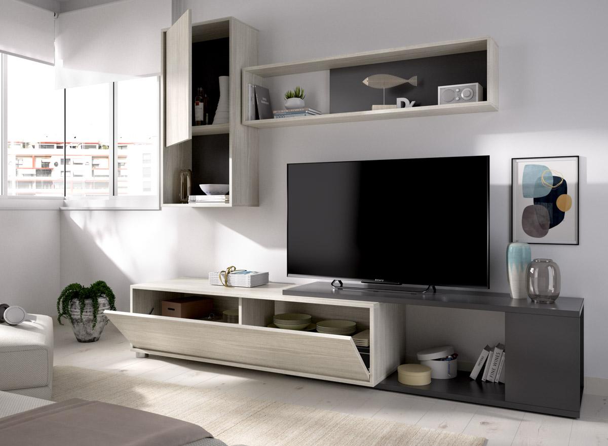 salon tv flexible grafito 9