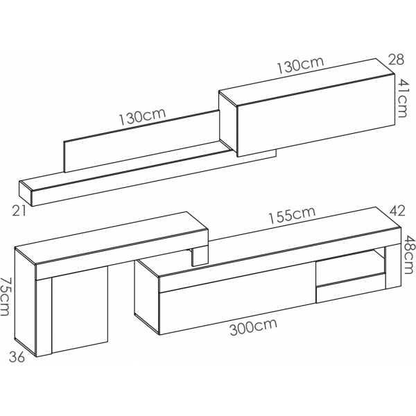 salon tv modular 13