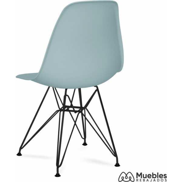 silla comedor azul eames