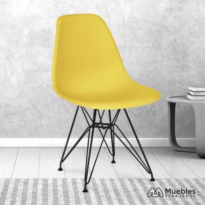 silla comedor barata amarilla