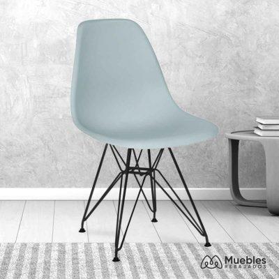 silla comedor barata azul