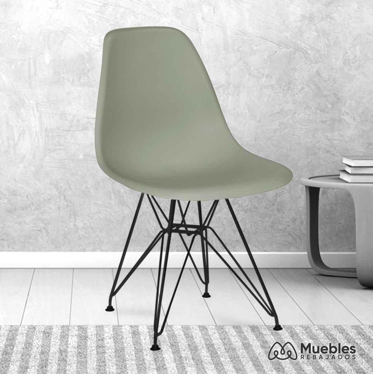 silla comedor barata gris