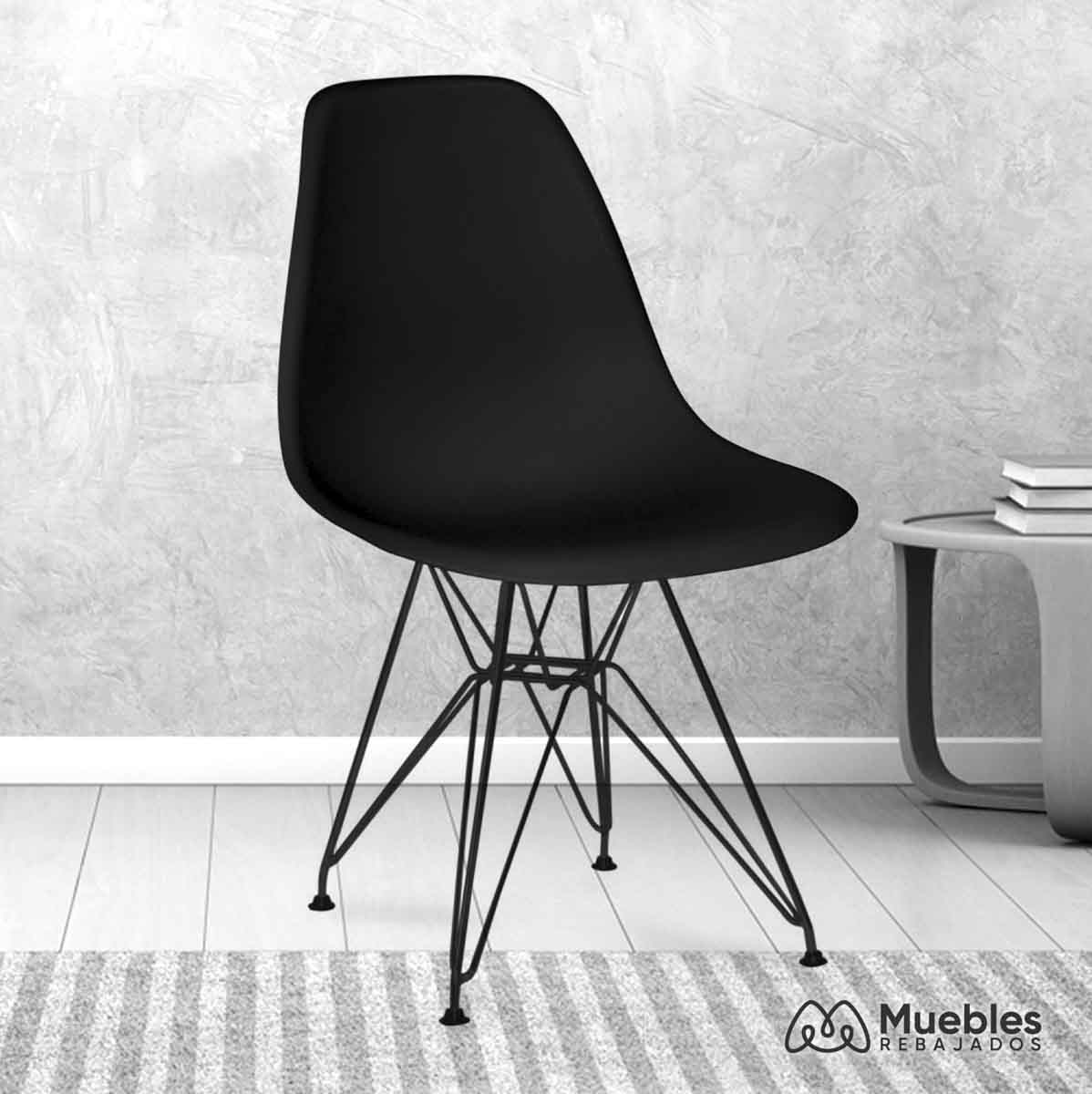 silla comedor barata negra
