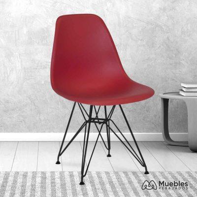silla comedor barata roja