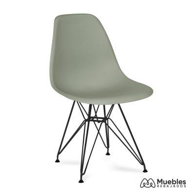 silla dalmau asiento pvc gris