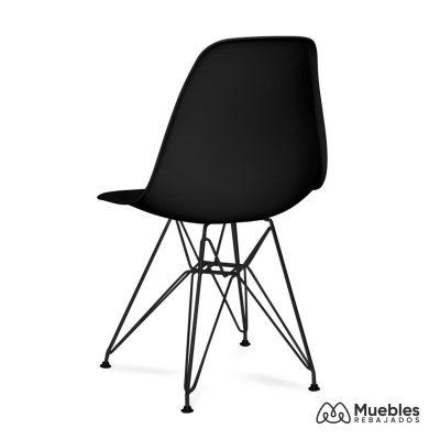 silla dalmau negra asiento negro