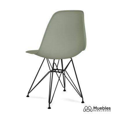 silla eames asiento pvc gris