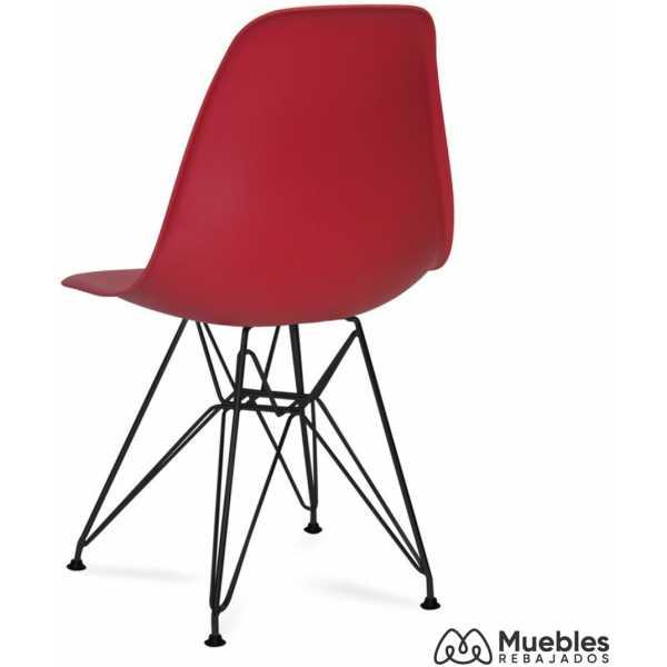 silla roja patas negras