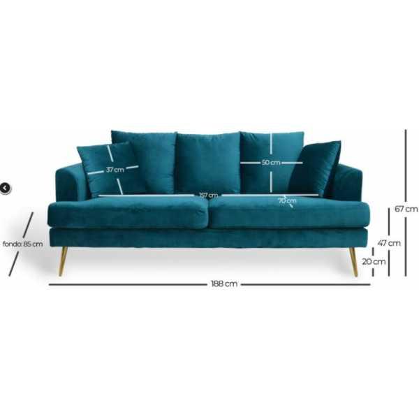 sofa 3 plazas terciopelo 2
