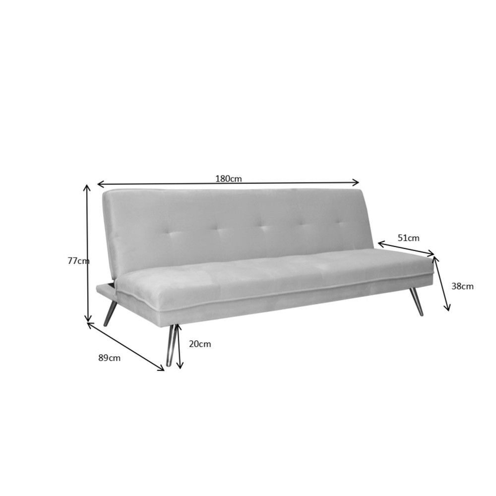 sofa cama 3 plazas gris claro 4