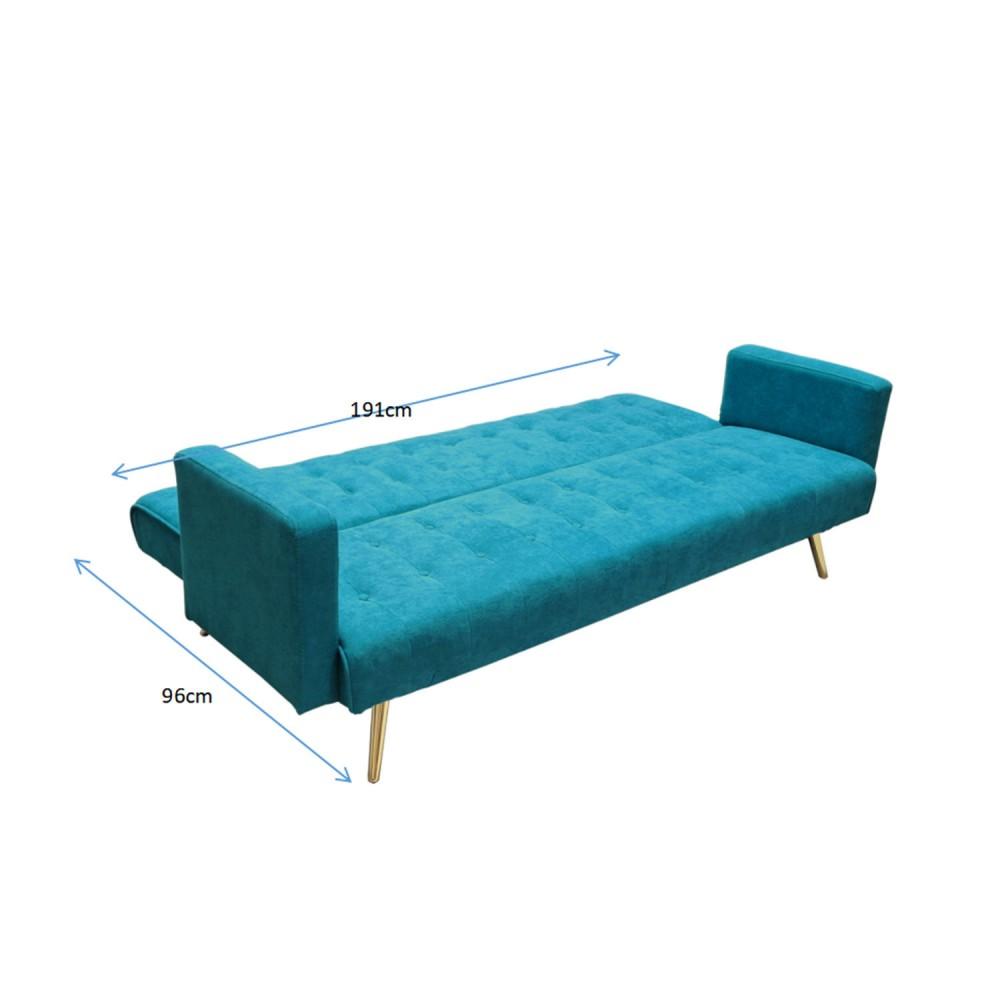 sofa cama azul 3 plazas