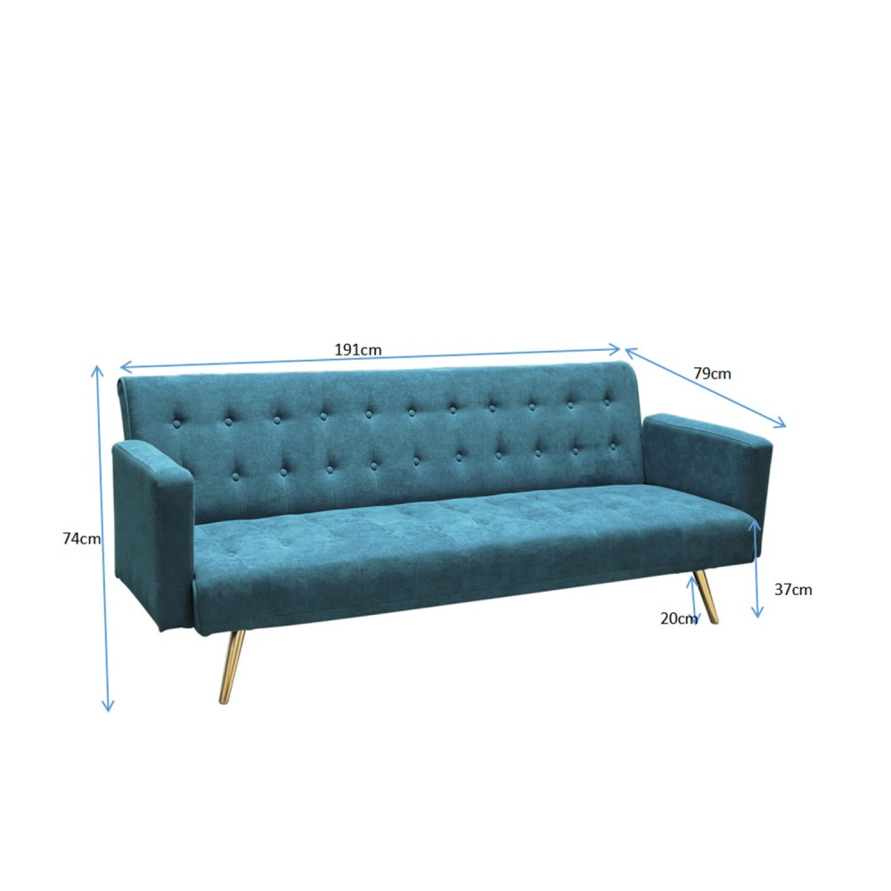 sofa cama azul 3 plazas 1
