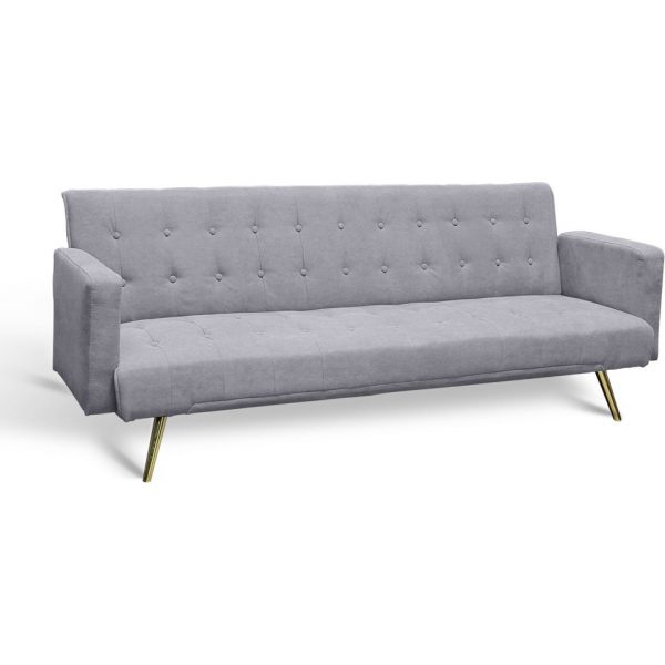 sofa cama gris 3 plazas