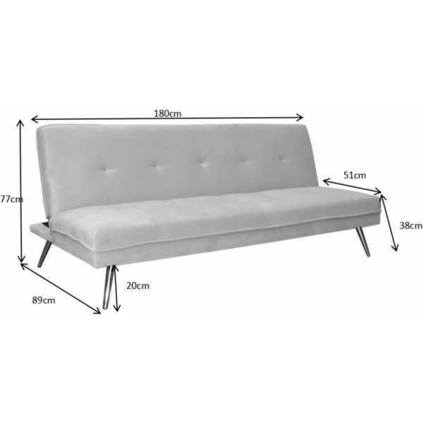 Sofa cama rosa 3 plazas