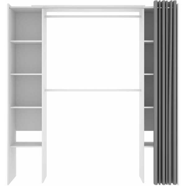 vestidor blanco con cortina 2