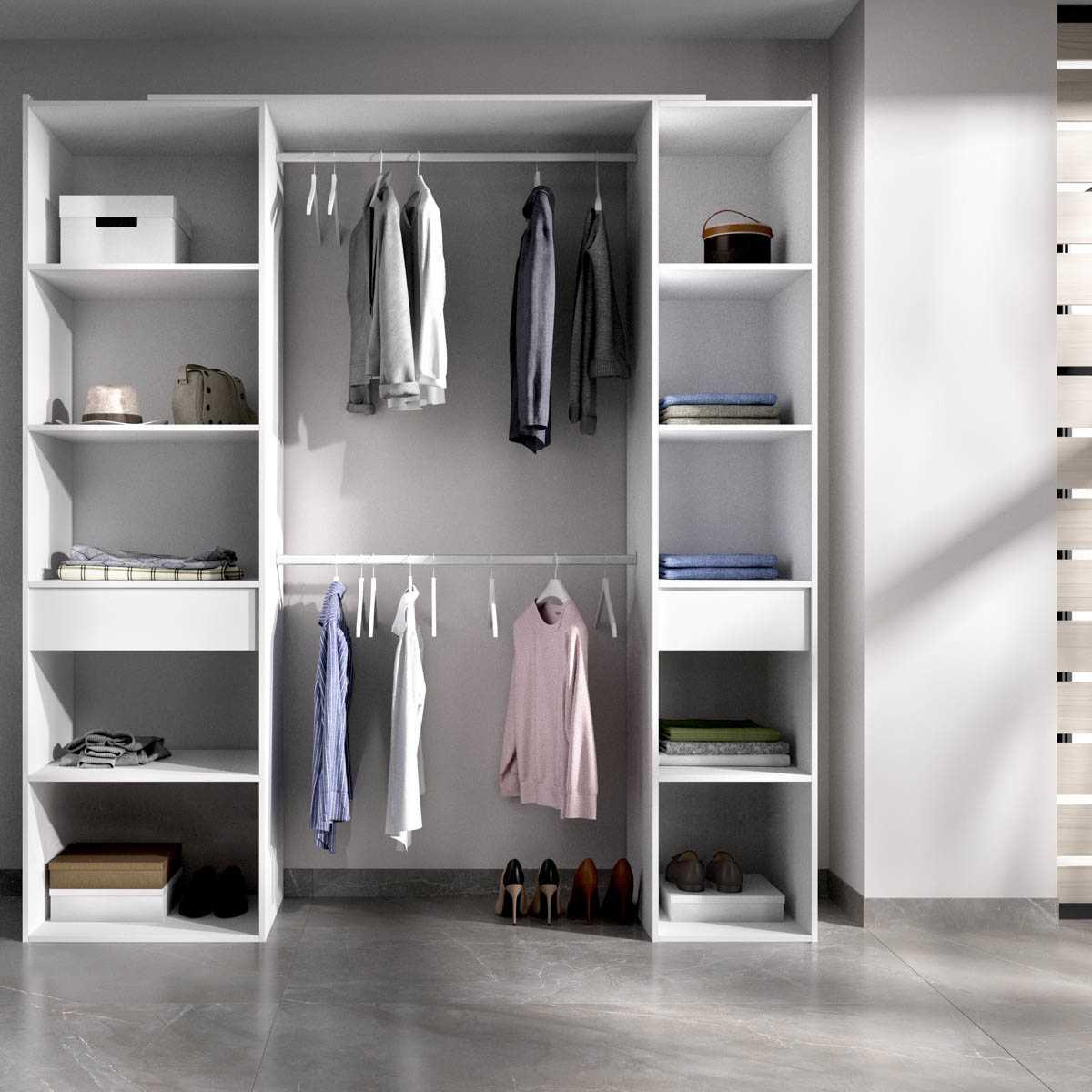 vestidor blanco con cortina 4