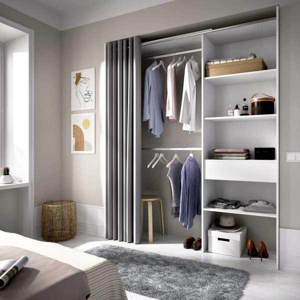 vestidor con 1 cajon y cortina 4