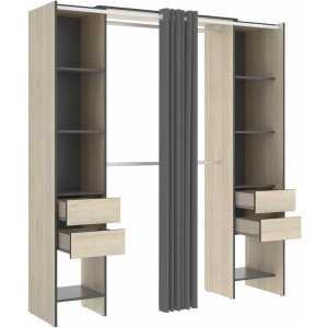 vestidor con 4 cajones y cortina 1