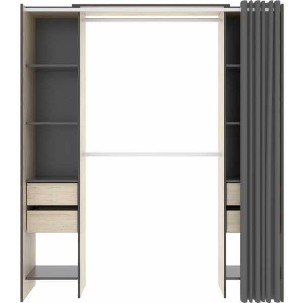 vestidor con 4 cajones y cortina 3