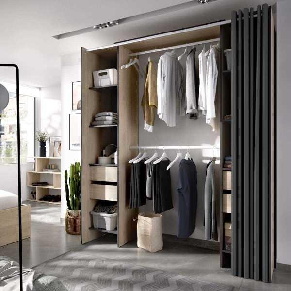 vestidor con 4 cajones y cortina 5