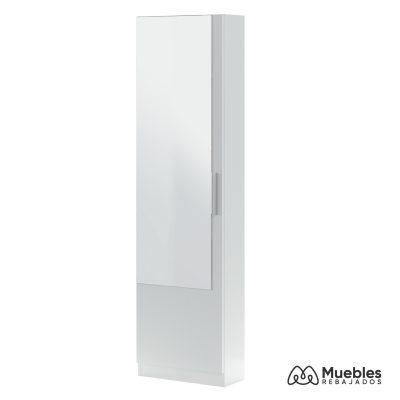 zapatero alto blanco con espejo 007864a