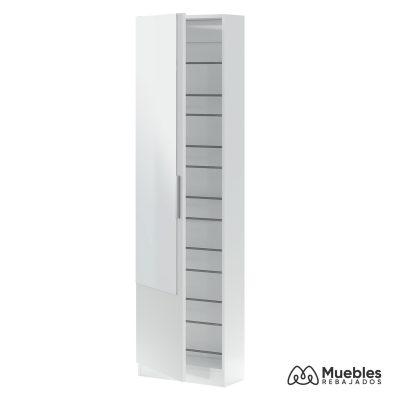 zapatero alto blanco con espejo estrecho 007864a
