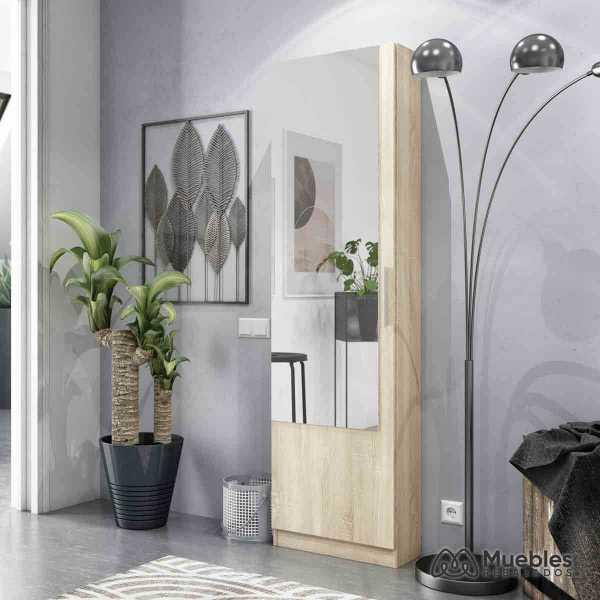 zapatero alto con espejo moderno 007864f