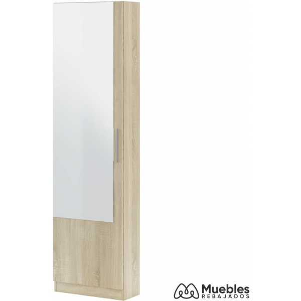 zapatero alto con espejo roble 007864f